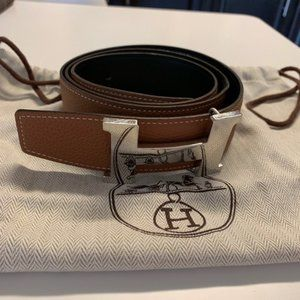 Hermès H Belt Buckle & Reversible Leather Strap